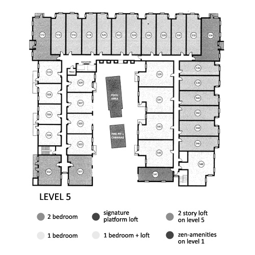 Aloft Floor Plan Level 5