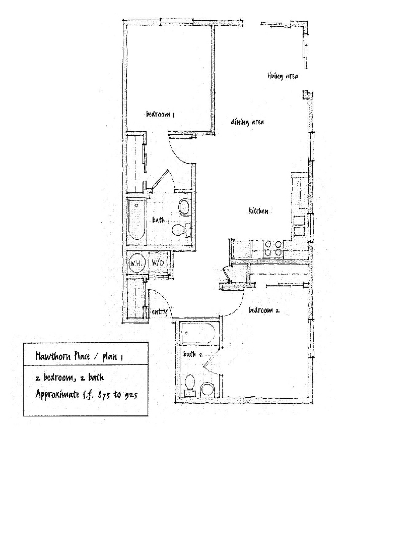 Hawthorne Place Floor Plan 1