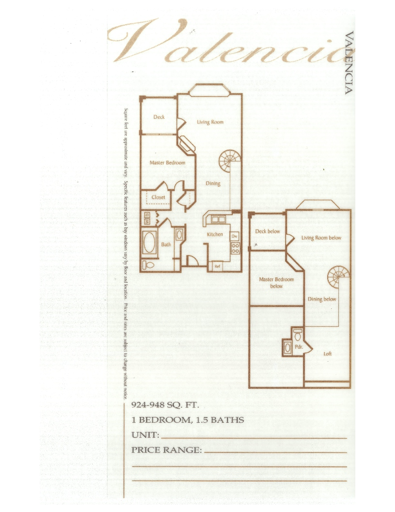 Laurel Bay Valencia Floorplan
