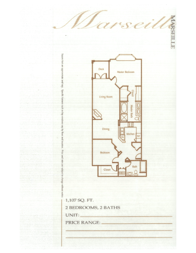 Laurel Bay Marseille Floorplan