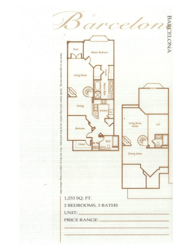 Laurel Bay Barcelona Floorplan