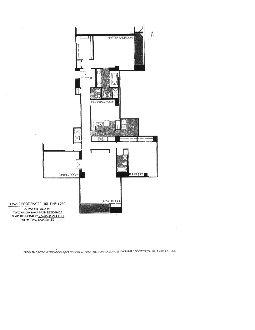 Meridian Floor Plan 1101-2301