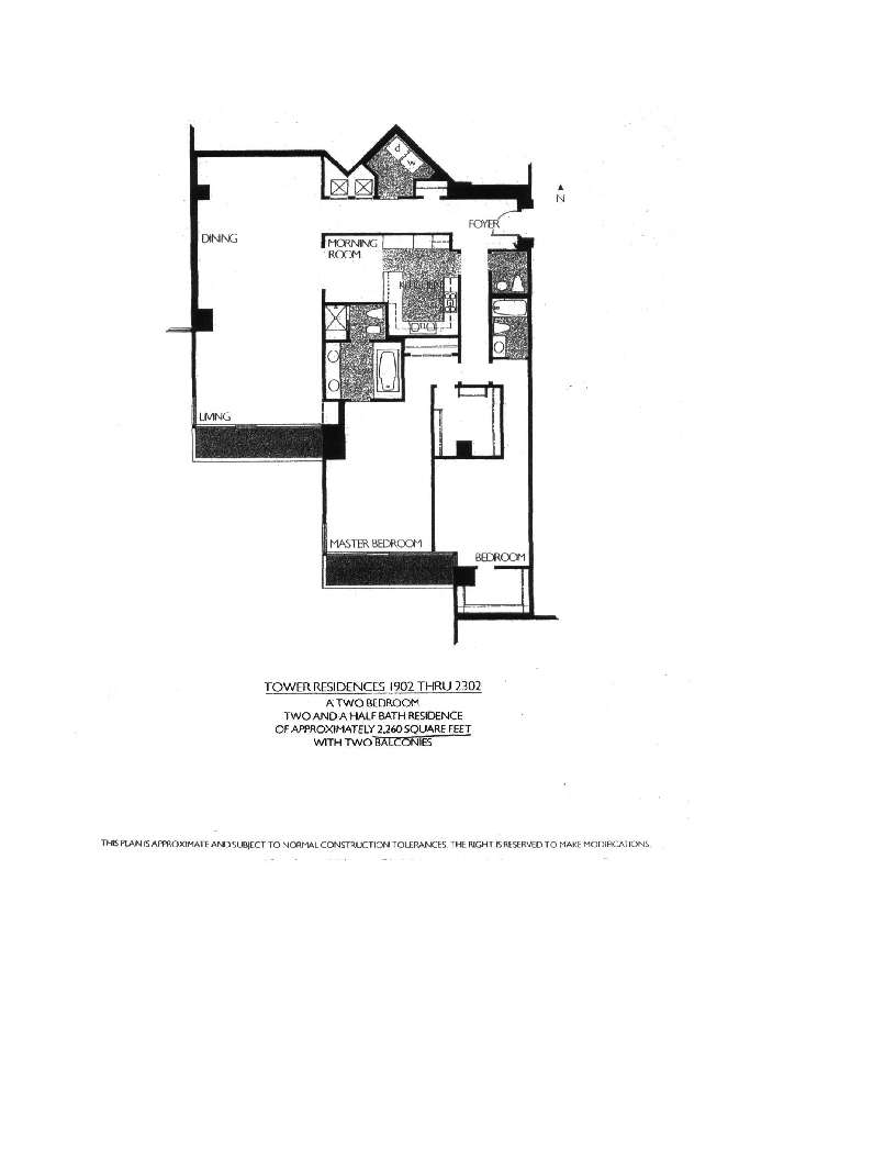 Meridian  Floor Plan 1902 thru 2302