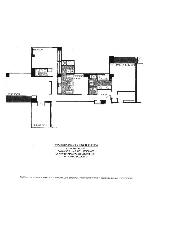 Meridian Floor Plan 1904 thru 2304