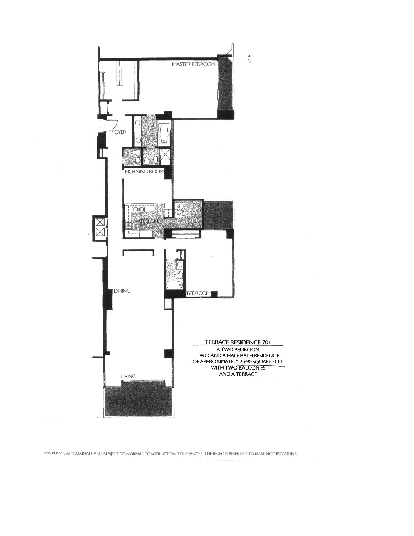 Meridian  Floor Plan 701