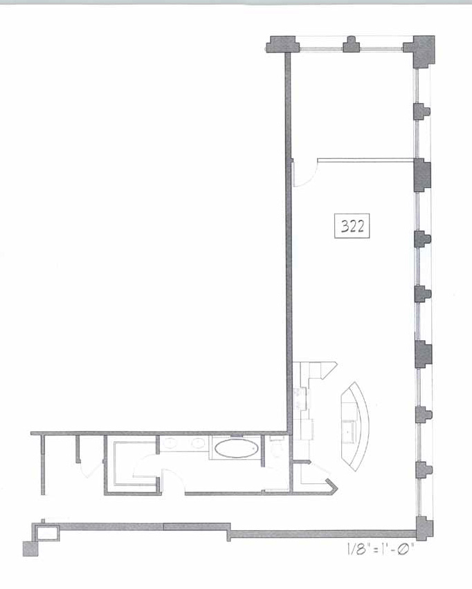 Samuel Fox Loft Floor Plan - 322