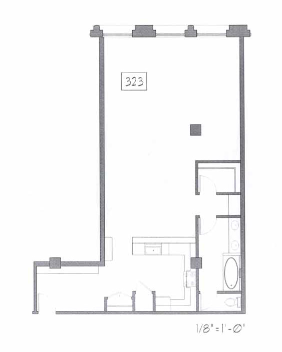 Samuel Fox Loft Floor Plan - 323