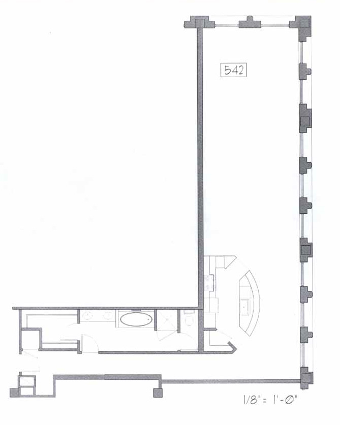 Samuel Fox Loft Floor Plan - 542