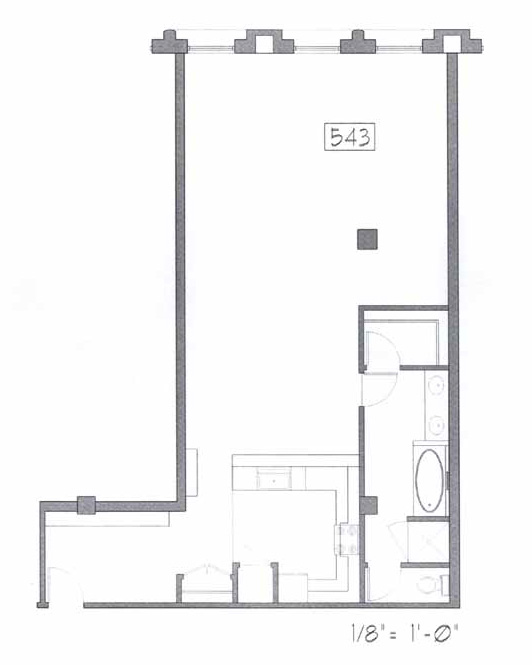 Samuel Fox Loft Floor Plan - 543