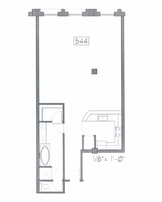 Samuel Fox Loft Floor Plan - 544