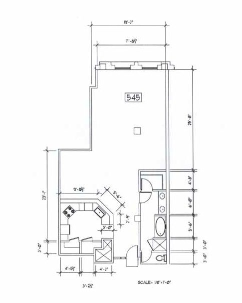Samuel Fox Loft Floor Plan - 545