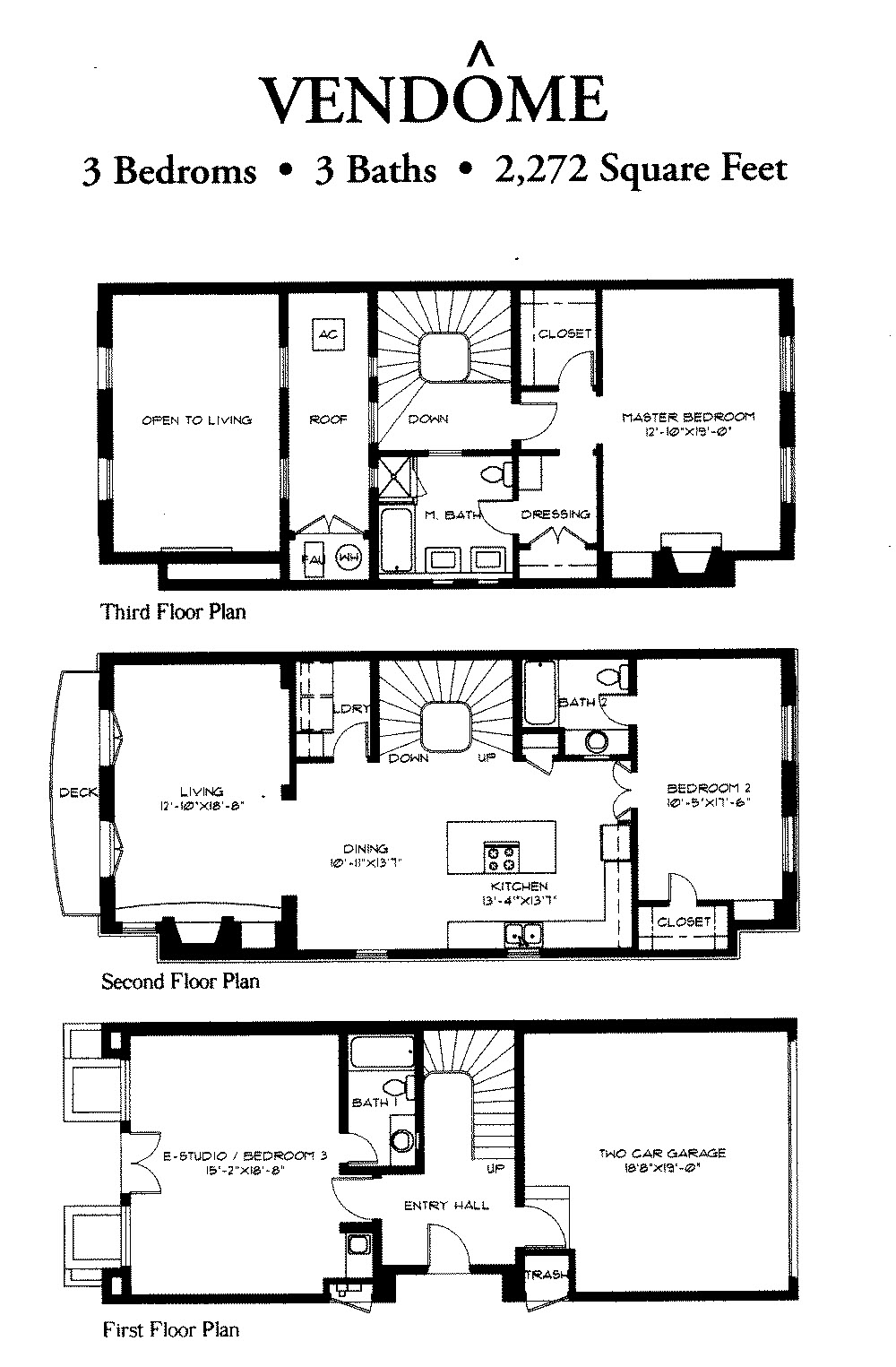 Soleil Ct Floor Plan Vendome